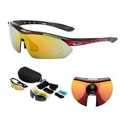 c5c8c1cc8a RubySports Men Polarized Frame Sunglasses Cycling Eyewear with 5 I.