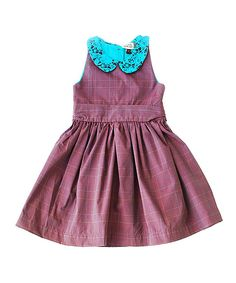 Look at this #zulilyfind! Maroon & Turquoise Plaid Pauline Dress - Infant, Toddler & Girls by Sophie Catalou #zulilyfinds