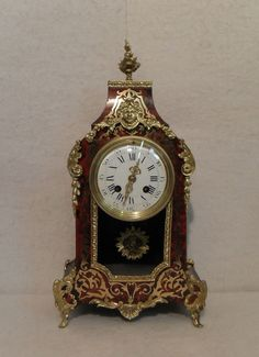 French Boulle Mantel Clock c. 1860 France