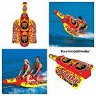 NEW 2 Person Hot Sauce Towable Inflatable Tube Float Water Boat Raft Ski Tubing