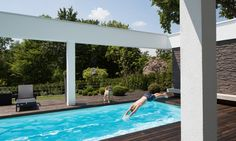 The pool gives the estate a rating of excellence.