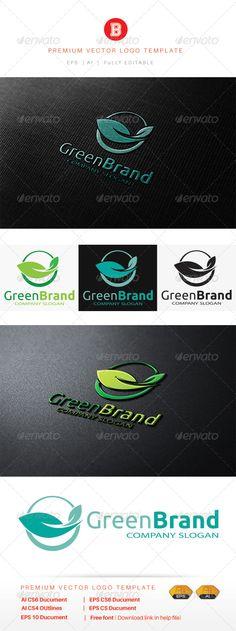 Green Brand - Logo Design Template Vector #logotype Download it here: http://graphicriver.net/item/green-brand/8530195?s_rank=1136?ref=nexion