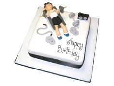 Order your The Body Builder Cake from our Celebration Cakes section, online or in store today. Body Builder Cake, Happy Birthday, Birthday Cake, Keep Fit, Celebration Cakes, Party Cakes, Let Them Eat Cake, Cake Ideas, Bakery