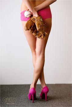 sporty boudoir, lubbock boudoir photographer, pink, baseball,
