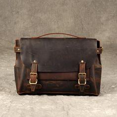 Leather Briefcase Men, Brown Leather Messenger Bag, Men's Briefcase, L – Leajanebag Laptop Briefcase, Briefcase For Men, Leather Briefcase, Laptop Backpack, Brown Leather Messenger Bag, Waxed Canvas Bag, Leather Men, Leather Jackets, Pink Leather