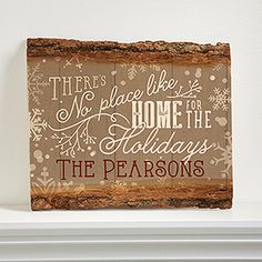 This wood Christmas Décor sign is absolutely beautiful! I love the rustic look of the real wood and you can personalize it with any name!