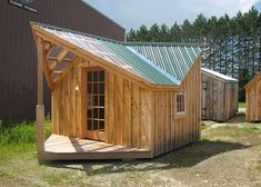They all come with detailed blueprints, comprehensive building guide, materials list, free cupola plans, and email support. Barn Shed Plans Small Prefab Cabins, Prefab Cottages, Backyard Cabin, Backyard Retreat, Backyard Ideas, Cabin Plans, Shed Plans, House Plans, Shop Interior Design