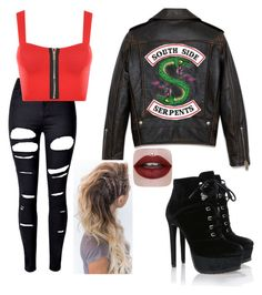 """Riverdale Southside Serpent"" by abigail0lopez ❤ liked on Polyvore featuring WithChic and WearAll"
