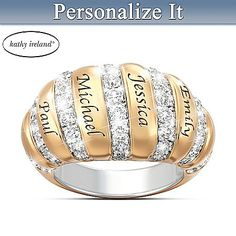 kathy ireland A Mother's Love Personalized Women's Ring Jewelry