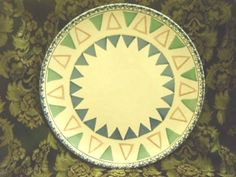 Pier 1 Imports Per8 Dinner Plate Blue Pink Green Triangles Portugal Dinnerware #Pier1Imports