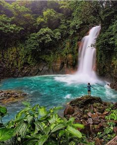Prepare to feel small sakography taking in Rio Celeste Waterfallhellip