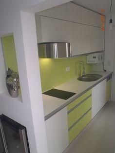 Kuchyňa zelená - biela - BMV Kuchyne Kitchen Cabinets, Home Decor, Decoration Home, Room Decor, Cabinets, Home Interior Design, Dressers, Home Decoration, Kitchen Cupboards