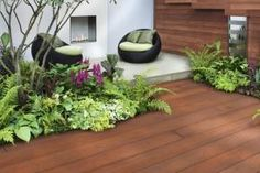 Similar to Mahogany wood, Jarrah Millboard Composite Decking adds instant warmth to your garden design. Available also in fascia boards, bullnosed and square edging.