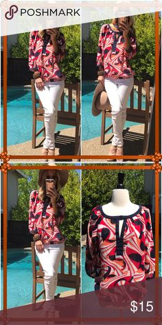 👛BR👛 Just sweet, colorful, sassy and summer fun!. Pristine condition! Banana Republic Tops
