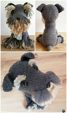 Crochet Amigurumi Dog Fur Free Pattern - Amigurumi Puppy Dog Stuffed Toy Patterns