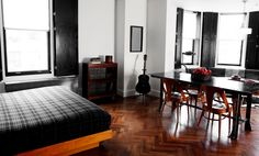 The Ace Hotel in Manhattan-- The rooms feel like cool apartments, with French doors, vintage furniture and record players, and you can get one with bunk beds if you're staying with a friend. The catch: The location isn't perfect--it's near Broadway in midtown, which is kind of dreary, so you'll have to take a subway to most other neighborhoods to hang out and have dinner; however the Ace is so fun, it could be worth it.