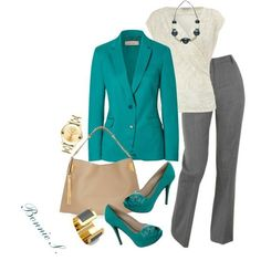 Outfits From Polyvore | work outfit, created by bonnaroosky on Polyvore...not the bow on the ...