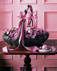 "See the ""African Violets Basket"" in our Easter and Spring Centerpieces	  gallery"