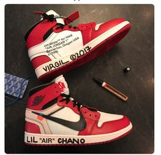 cd6c9dc4c0fe5c Virgil Abloh Gifts a Pair of Customized Air Jordan 1s to Chance the Rapper  Best Sneakers