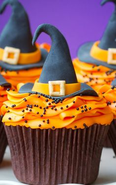 Halloween witch cupcake