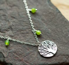 Sterling Silver Tree of Life necklace by BorealisSeaGlass on Etsy
