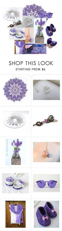 """""""Lavender Footprints"""" by inspiredbyten ❤ liked on Polyvore featuring Rustico"""