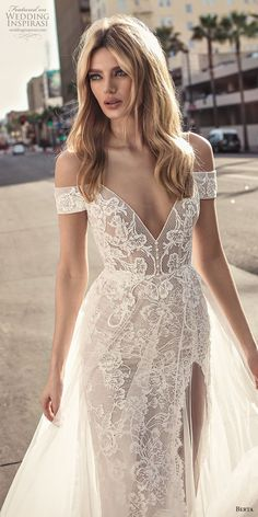berta 2019 muse bridal spaghetti strap cold shoulder v neck full embellishment romantic soft a line wedding dress scoop back sweep train (1) lv -- Muse by Berta 2019 Wedding Dresses | Wedding Inspirasi #wedding #weddings #bridal #weddingdress #bride ~