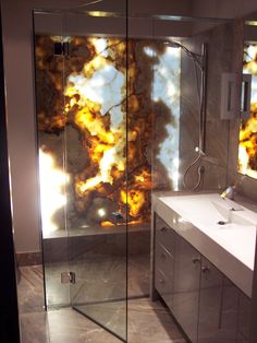 Printed Photograph Shower Wall Splashback