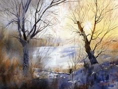 Winter_days_2 by Grze­gorz Wró­bel is an archi­tec­tural designer and illus­tra­tor from Poland. Born in 1983, Wróbel started  painting with watercolors at the age of 12.  His work fea­tures great water­color skills, fresh col­ors and sub­tle tex­tures. His cre­ativ­ity doesn't stop to archi­tec­ture and illus­tra­tions, Wró­bel is also a music com­poser.
