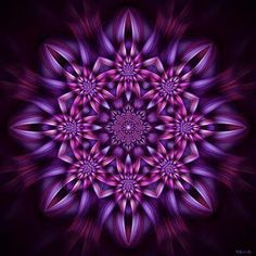 Bildergebnis für mandala tutorial for polymer clay Purple Art, Purple Love, All Things Purple, Shades Of Purple, Magenta, Fractal Design, Fractal Art, Arte Chakra, Purple Reign