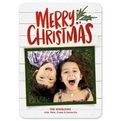 Christmas Joy Holiday Photo Card | Fine Stationery Holiday Greeting Cards, Holiday Photo Cards, The Winslow, Joy Holiday, Fine Stationery, White Envelopes, Merry Christmas, Paper, Prints