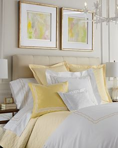 Embroidered Percale Bedding