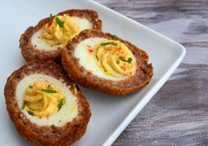 Scotch Deviled Eggs - I can't tell if I like the look of these or not... ahahaha