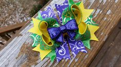 Check out this item in my Etsy shop https://www.etsy.com/listing/218577381/mardi-gras-purple-gold-yellow-green