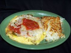 Barcelona omelet and hash browns at Yours Truly Restaurants