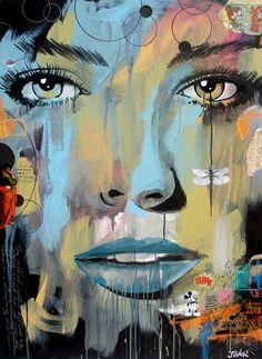 """: Loui Jover; Acrylic, 2013, Painting """"dragon fly (canvas)"""""""