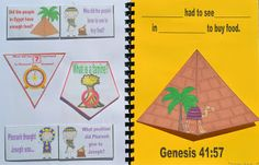 Genesis: Genesis: Joseph in Prison & Pharaoh's Dreams lesson, ideas and printables Kids Church Lessons, Bible Lessons For Kids, Sunday School Lessons, Bible For Kids, Children Church, Bible Crafts, Book Crafts, Bible Art, Joseph In Egypt