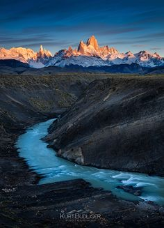 Illumination - Fitz Roy Massif, el Chalten, Argentina  Thought I'd leave you…