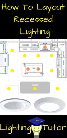 How to layout recessed lighting like a pro. Recessed lighting is a great DIY pro. - - How to layout recessed lighting like a pro. Recessed lighting is a great DIY project and I can help you to figure out where to place them Recessed Lighting Layout, Kitchen Recessed Lighting, Recessed Lighting Fixtures, Kitchen Lighting Design, Bathroom Lighting, Design Kitchen, Recess Lighting In Kitchen, Light Fixtures, Kitchen Can Lighting Ideas