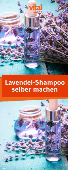 Lavendel-Shampoo selber machen: Eure Kopfhaut soll so richtig durchblutet werden… Make lavender shampoo yourself: Your scalp should be properly supplied with blood and your hair feeling fresh? Then our soothing lavender shampoo is just right! Diy Shampoo, Organic Shampoo, Shampooing Bio, Belleza Diy, Diy Beauté, How To Clean Makeup Brushes, Natural Make Up, Belleza Natural, Natural Cosmetics
