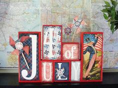 darling decor for 4th of July. From @megityshandmade