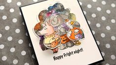 Watercolor Halloween Card with Movement! – kwernerdesign blog
