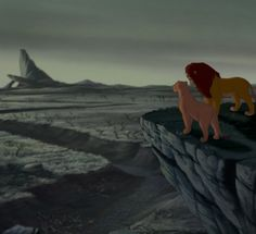 """The Lion King"" Simba's return to Pride Rock."