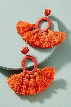 Anthropologie Hula Skirt Tasseled Drop Earrings | Anthropologie #PaidAd #affiliatelink #Anthro #bohochic #boho