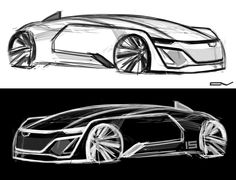 Another Premium American Self-Driving Vehicle by Cadillac. The car has been designed for 2020 year and it has different functions for supporting easy driving. #vehicle #electric #power #carporn #sketch #doodle #gm #design #cardesign #american #premium #cadillac #future #vision #concept #photoshop #graphicdesign #industrial #automotive #chepushtanovv #drawing #art #picture #robot #remote #2020 #smart #coupe #speed