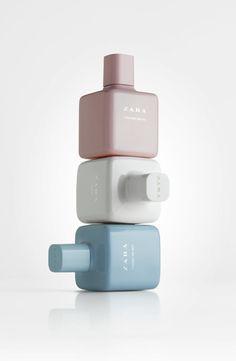 The New Feminine Look to ZARA's Best-Selling Fragrance — The Dieline - Branding & Packaging Design (Perfume Bottle Minimal) Perfume Packaging, Bottle Packaging, Cosmetic Packaging, Beauty Packaging, Brand Packaging, Design Packaging, Branding Design, Ux Design, Graphic Design