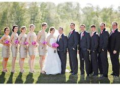 Simple Wedding Group SHot - lighting is key!