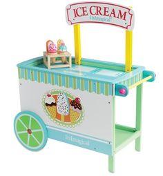 ¿Quién quiere helados? Este carrito tan bonito es de Imaginarium.