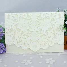 50pcs Red White Gold Elegant Carved Embossed Flower Laser Cut Wedding Invitations Elegant Envelop Invitation Cards #A320f on Aliexpress.com | Alibaba Group