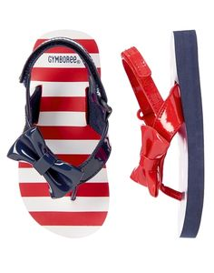 Patriotic Bow Flip Flops from Gymboree on Catalog Spree, my personal digital mall.